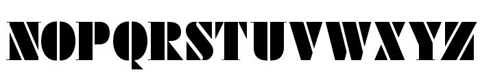 FutstencilSerif Font UPPERCASE