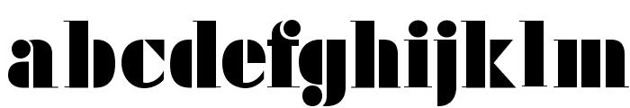 FutstencilSerif Font LOWERCASE