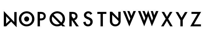 Futura Custom Font UPPERCASE