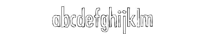 Futura Hand Font LOWERCASE