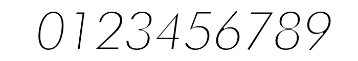 Futura Thin Italic Font OTHER CHARS