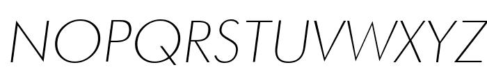 Futura Thin Italic Font UPPERCASE