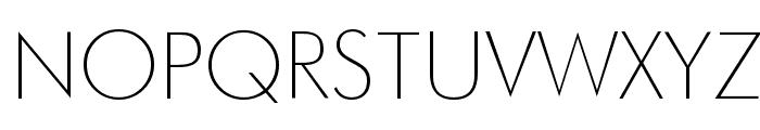 Futura Thin Font UPPERCASE