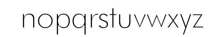 Futura Thin Font LOWERCASE