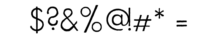 FuturaRenner Light Regular Font OTHER CHARS