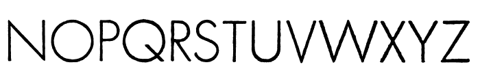 FuturaRenner Light Regular Font UPPERCASE
