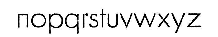 FuturaRenner Light Regular Font LOWERCASE