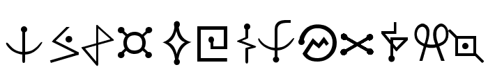 Futurama-Alien-Alphabet-One Font UPPERCASE