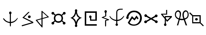 Futurama-Alien-Alphabet-One Font LOWERCASE