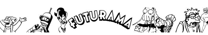 Futurama All Hail The Hypnotoad Font UPPERCASE
