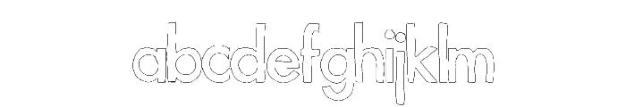 FutureLines Font LOWERCASE