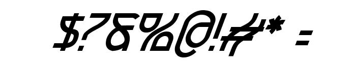 Futurex BoldOblique Font OTHER CHARS