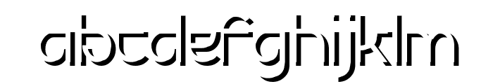 Futurex Embossed Font LOWERCASE