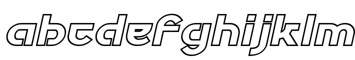 Futurex Phat Outline Italic Font LOWERCASE