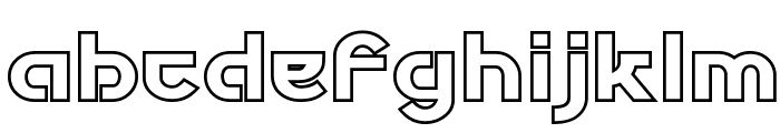Futurex Phat Outline Font LOWERCASE