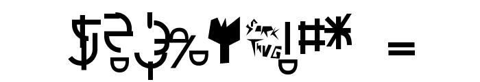 Futurex Schizmatic Font OTHER CHARS