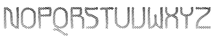 Futurex Striped Font UPPERCASE