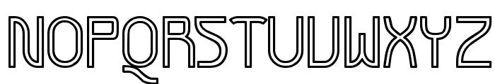 Futurex Variation Alpha Hollow Font UPPERCASE