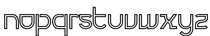 Futurex Variation Alpha Hollow Font LOWERCASE