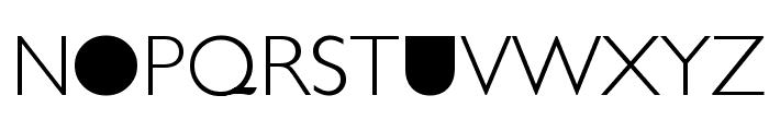 Futurism Light Font UPPERCASE