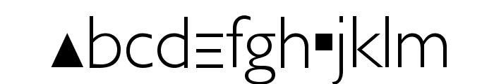 Futurism Light Font LOWERCASE