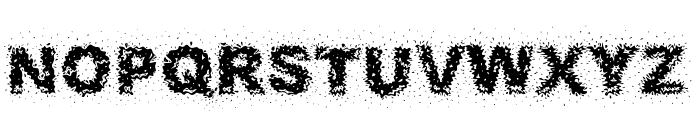Fuzzed Font LOWERCASE
