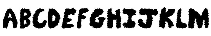 Fuzzy Bear Font UPPERCASE