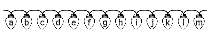 Fuzzy Xmas Lights Font LOWERCASE