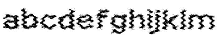 Fuzzy Xmas Font LOWERCASE