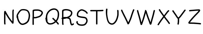 Fuzzy Font UPPERCASE