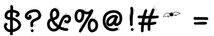 FuzzyBat Font OTHER CHARS
