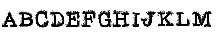 FuzzyBat Font UPPERCASE