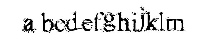 FuzzySock Thin Font LOWERCASE