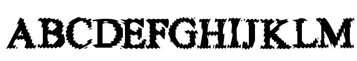 FuzzySock Font UPPERCASE