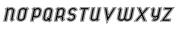 futile extraoutitalic Font UPPERCASE