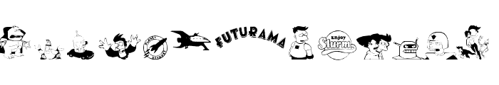 futurama dingbats Font UPPERCASE