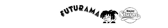 futurama dingbats Font LOWERCASE