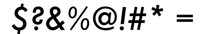 Futura Medium Italic Font OTHER CHARS