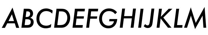 Futura Medium Italic Font UPPERCASE