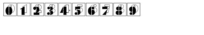 Futura Black Initials Standard D Font