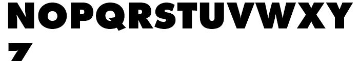 Futura Extra Bold Font UPPERCASE