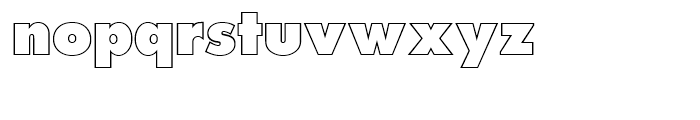 Futura Posteroutline Extra Bold p Font LOWERCASE