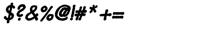 Futuramano Bold Italic Font OTHER CHARS