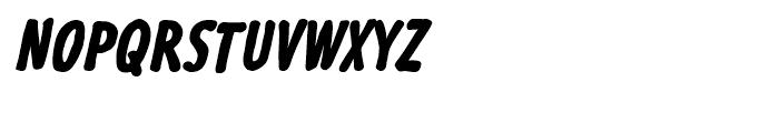 Futuramano Condensed Extra Bold Italic Font UPPERCASE