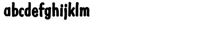 Futuramano Condensed Extra Bold Font LOWERCASE