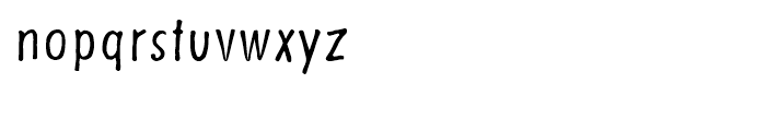 Futuramano Condensed Light Font LOWERCASE