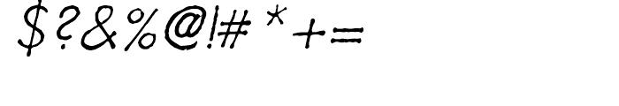 Futuramano Thin Italic Font OTHER CHARS