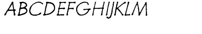 Futuramano Thin Italic Font UPPERCASE