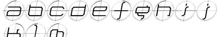 Future Kill Light Skew Font LOWERCASE