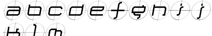 Future Kill Medium Skew Font LOWERCASE